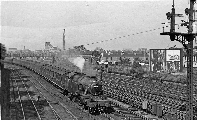 2511 Hauling a Passenger Train near Barking in 1948 // Credit Ben Brooksbank
