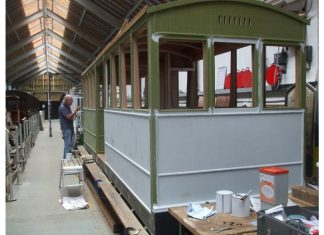 Corris Railway carriage works