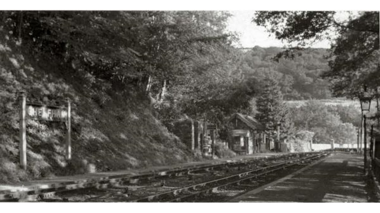 Chelfham station on the Lynton and Barnstaple Railway