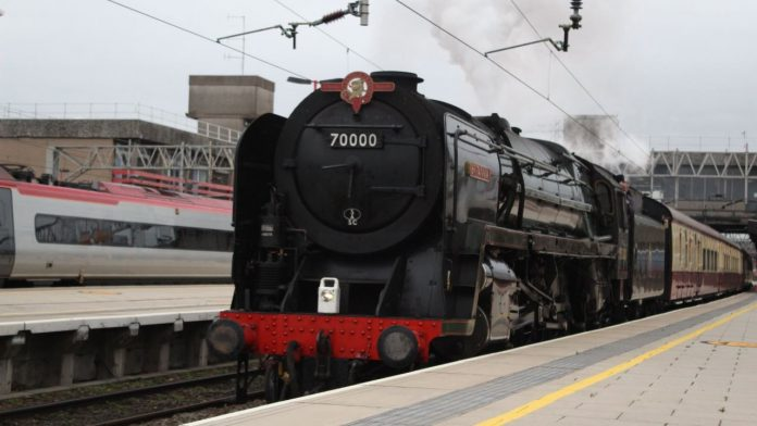 70000 Britannia at Stafford