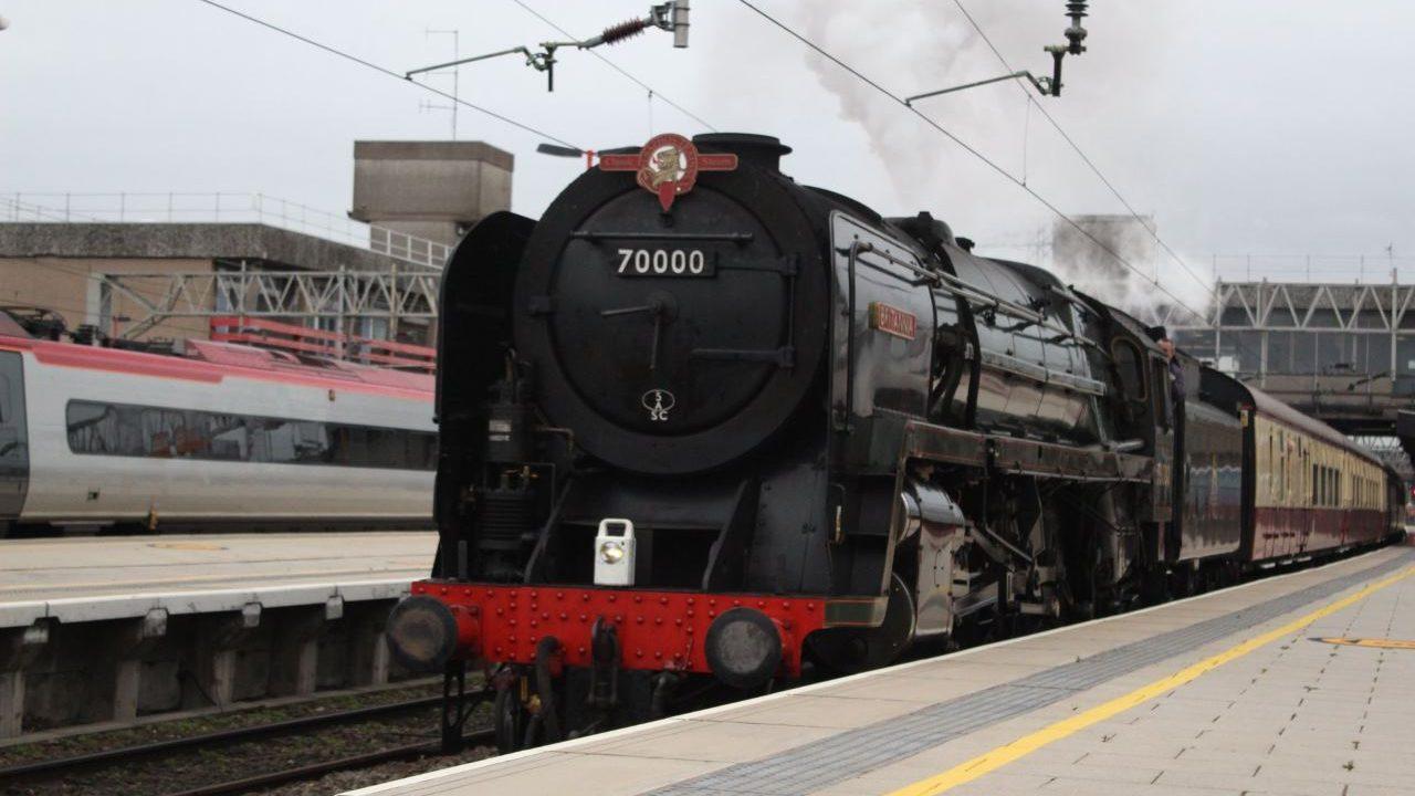 WATCH: Steam locomotive 70000 Britannia takes to the