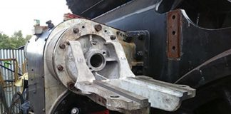 Rear Steam Chest Cover being Trial Fitted // Credit Peter Line