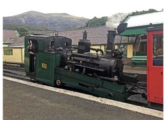 Swiss steam locomotive at the Snowdon Mountain Railway