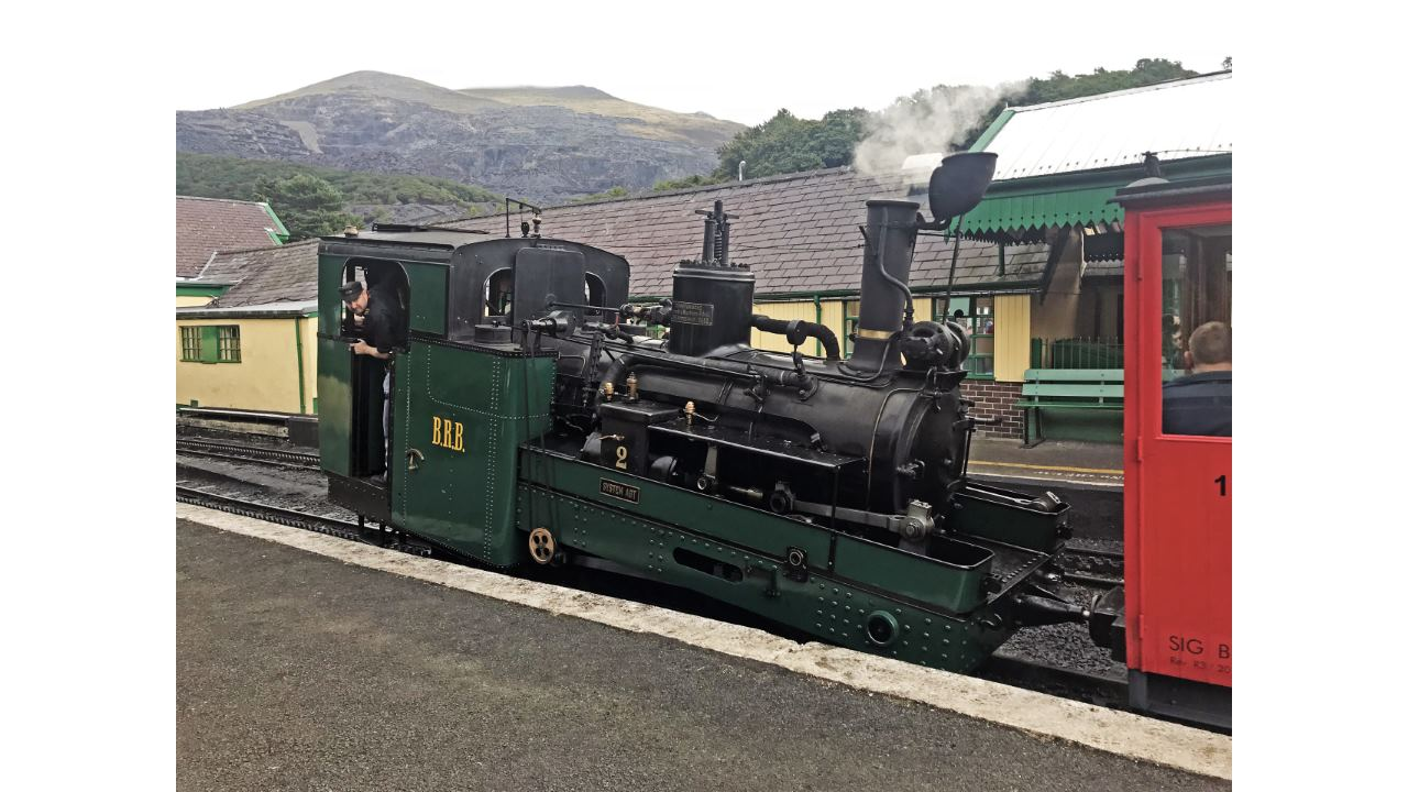 Swiss steam locomotive at the Snowdon Mountain Railway