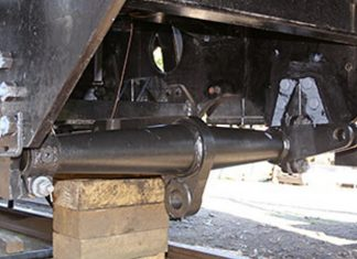 Brake-shaft after being fitted // Credit Tony Massau