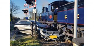 Steam train crash
