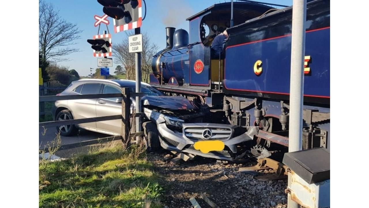 Steam train crash