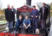 Remembrance day steam train driving