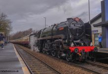 70000 Britannia arrives into Burnley Manchester Road