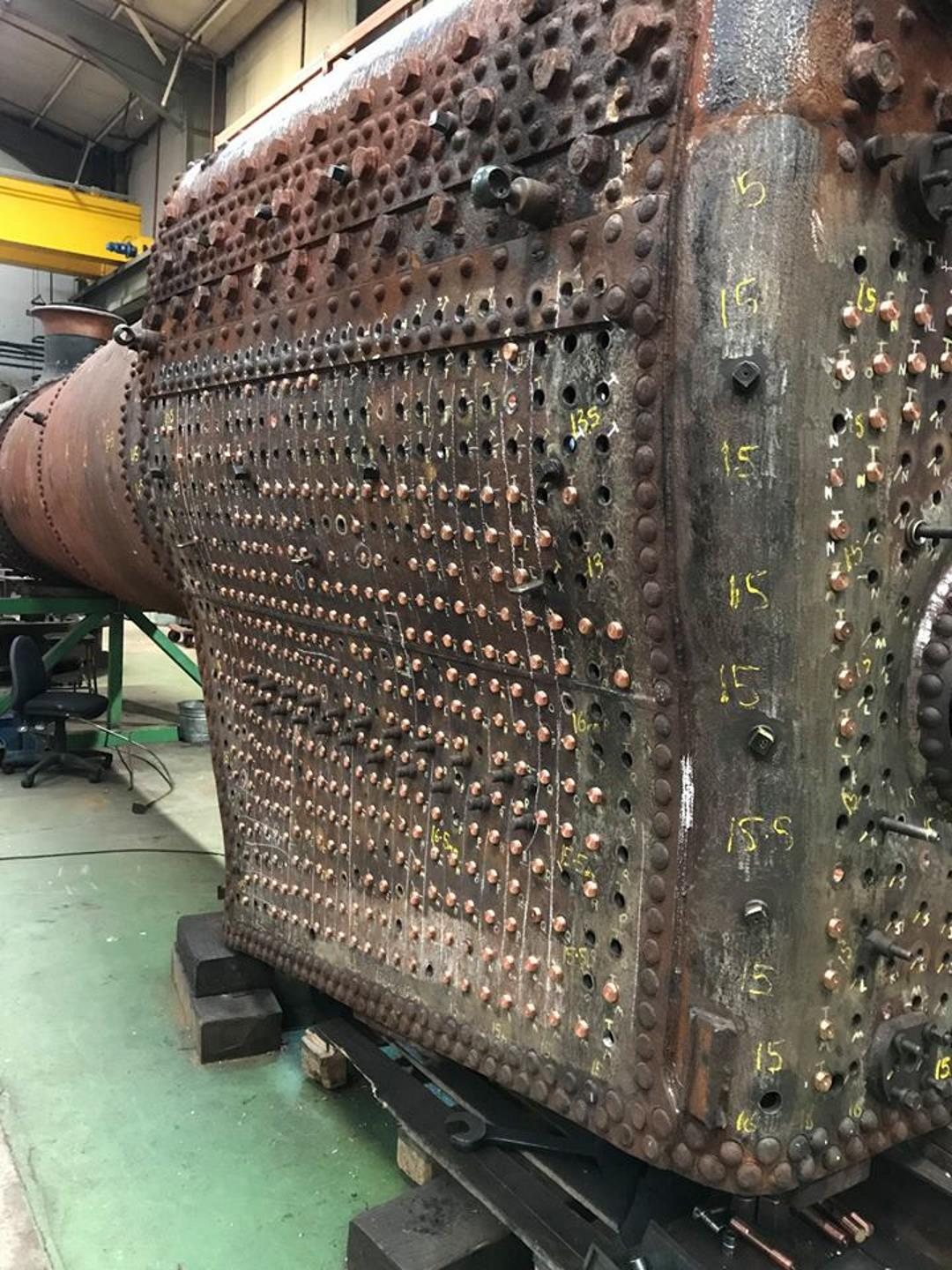 "Boiler of 7828 ""Odney Manor"" Recieving New Copper Stays Credit // Riley and Son (E) Ltd"
