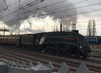 60009 Union of South Africa at Doncaster