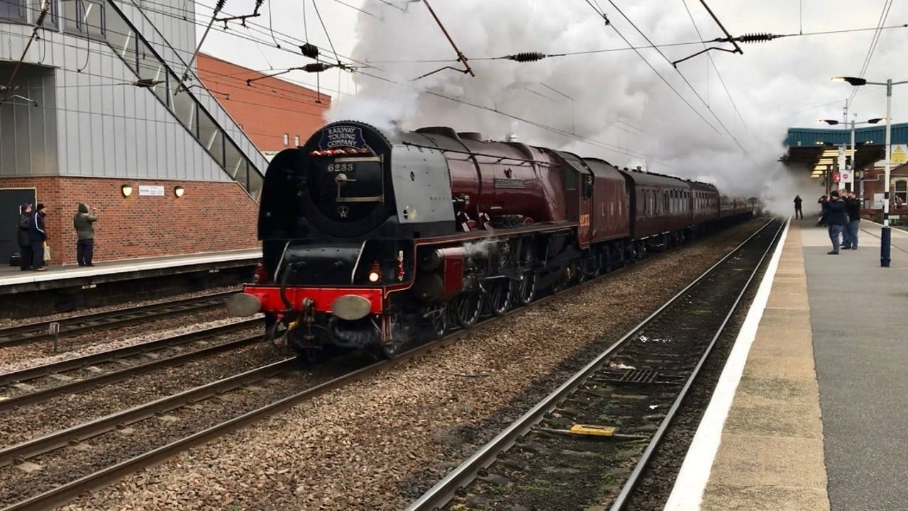 6233 Duchess of Sutherland at Doncaster