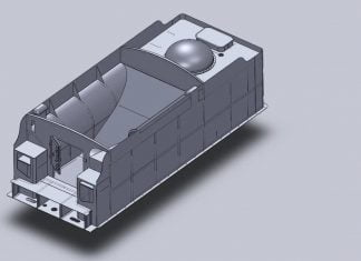 3D CAD Drawing of Hawksworth County Tender Top // Credit 1014 The GWR County Project