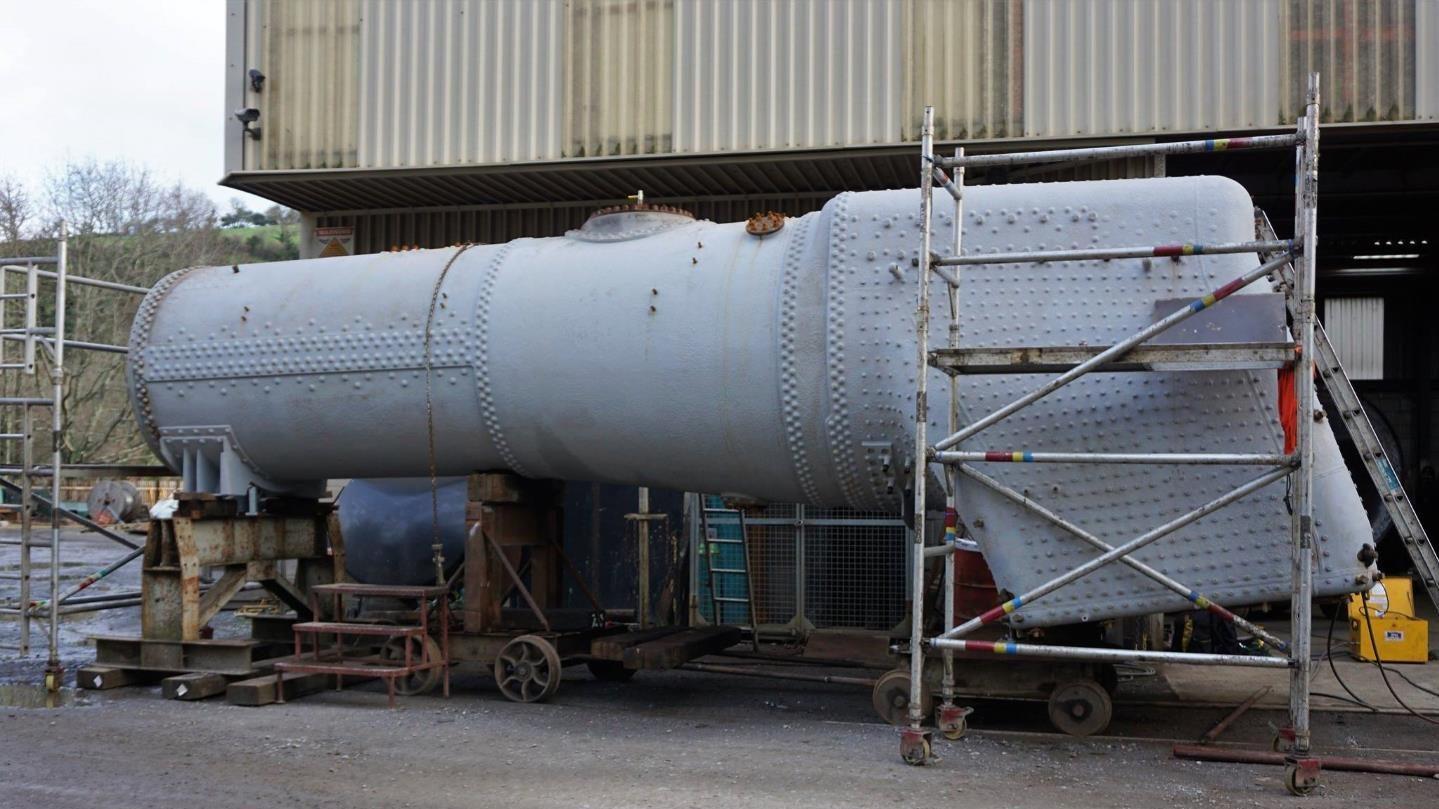 Eddystone's Boiler Undergoing Hydraulic Test // Credit SLL