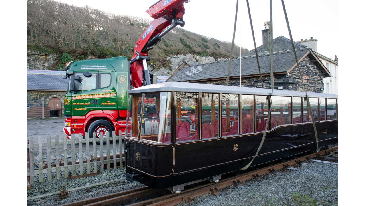 Ravenglass and Eskdale Railway 1st class carriage