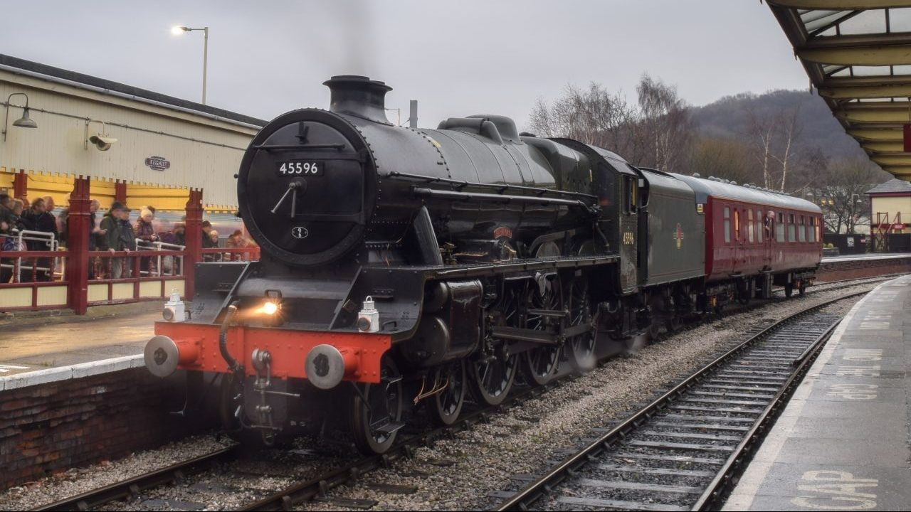 45596 stands at Keighley