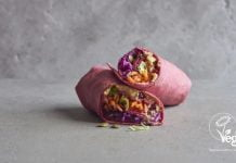 ummus & pomegranate wrap from Virgin Trains