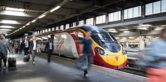 Virgin trains at London Euston