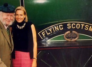 Flying Scotsman with Alan Pegler and Penny Vaudoyer