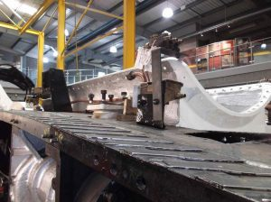 Cutting Pipes leading to Atomisers // Credit The Sir Nigel Gresley Locomotive Trust Ltd