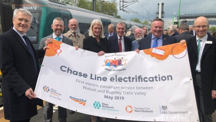 Walsall to Rugeley Trent Valley electric trains
