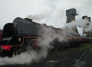 6233 Duchess of Sutherland at Carnforth