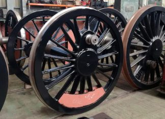 Newly Painted Coupled Wheels // Credit Paul Spence