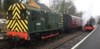 locos at Midsomer Norton