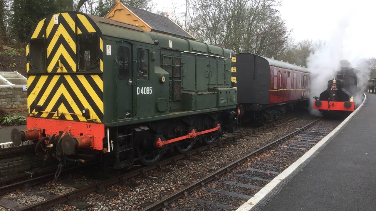 locos at Midsomer Norton