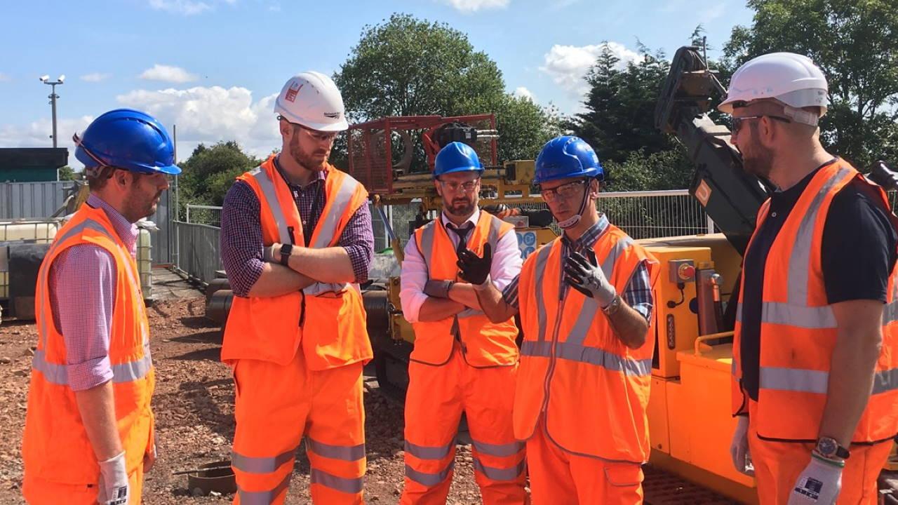 Vale of Glamorgan MP visits railway works