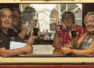 Beer festival at the North Norfolk Railway