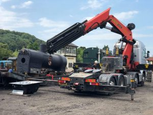 Preparing Boiler for Lifting // Credit Embsay and Bolton Abbey Steam Railway