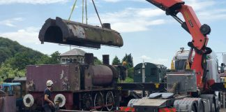 Removing Water Tanks // Credit Embsay and Bolton Abbey Steam Railway