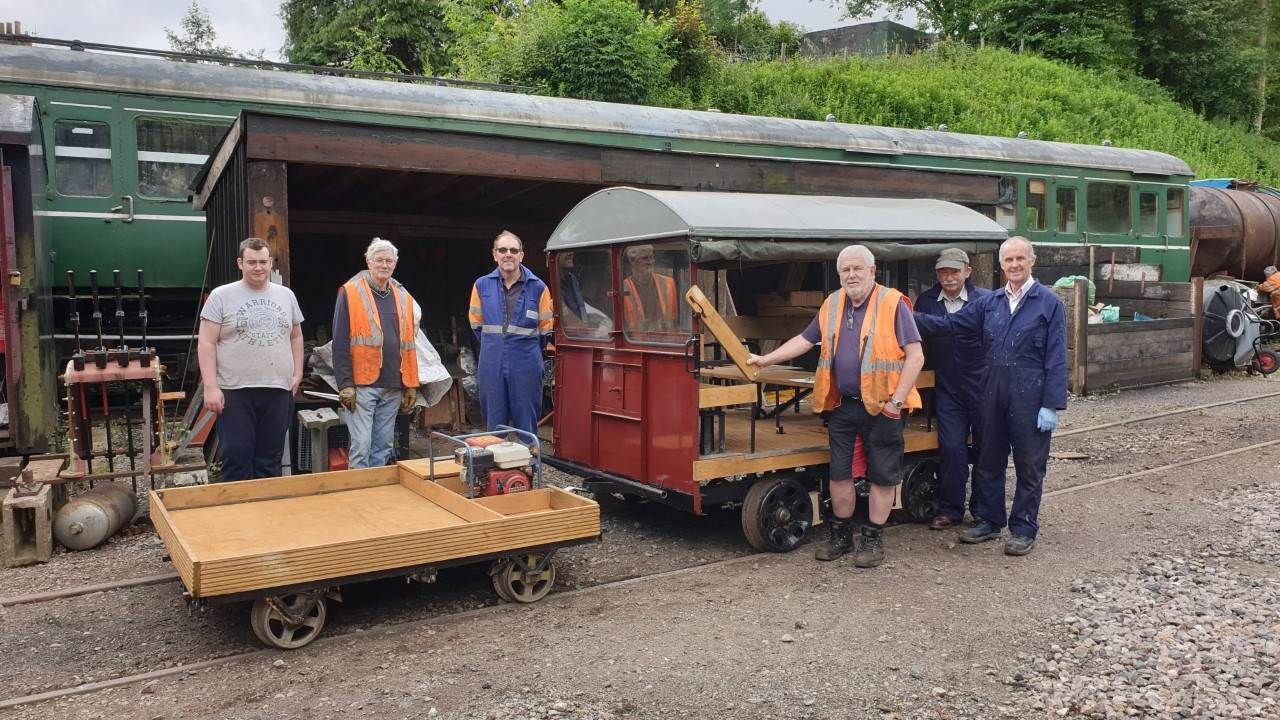 Wickham trolley and trailer
