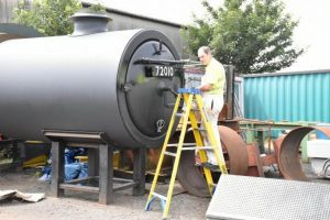 Smokebox being Painted // Credit The 'Clan' Project