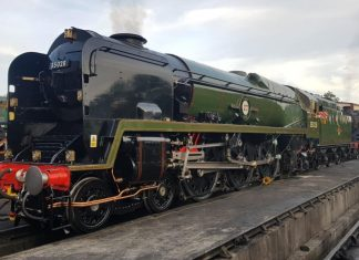"""35028 """"Clan Line"""" at Sheffield Park // Credit MNLPS"""