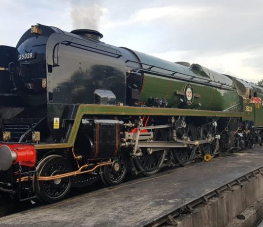 "35028 ""Clan Line"" at Sheffield Park // Credit MNLPS"