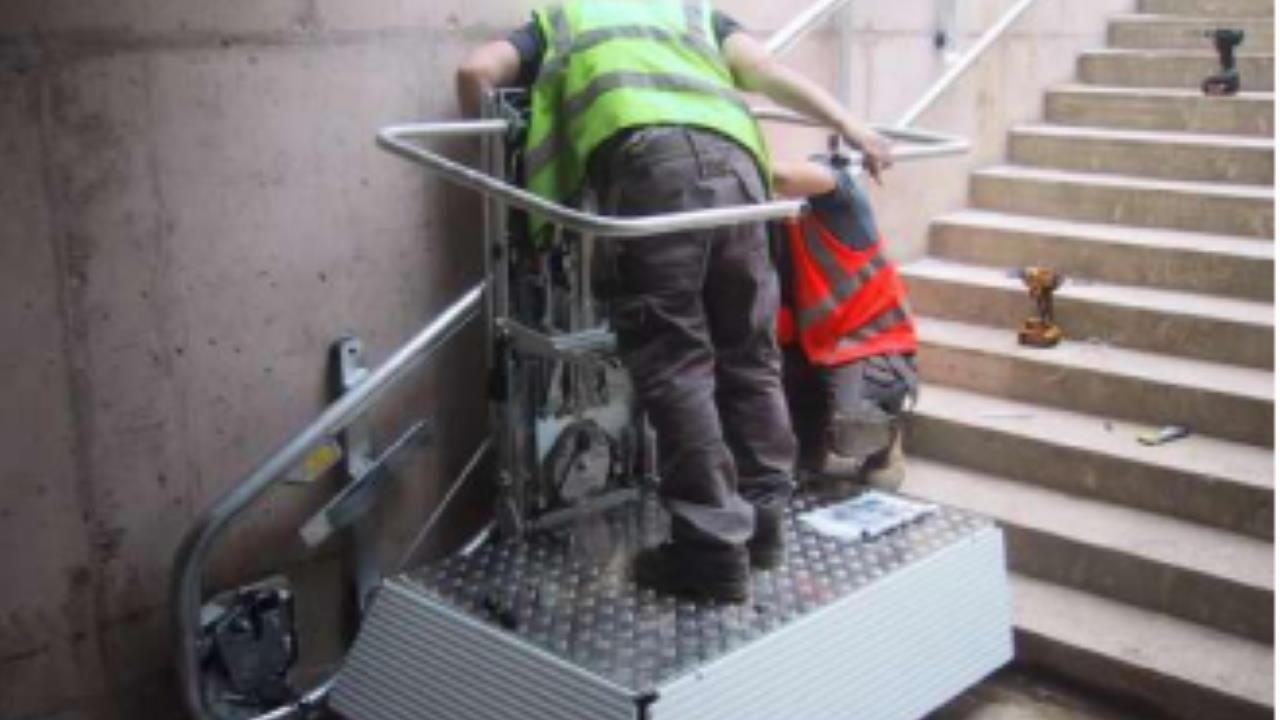 Wheelchair lift at Corwen