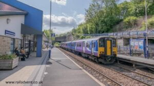 Northern's 150201 arrives into Burnley Manchester Road