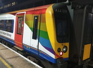 South Western Railway trainbow