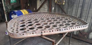 Removed Firebox Tubeplate // Credit GCR shed works (loughborough) FB Page
