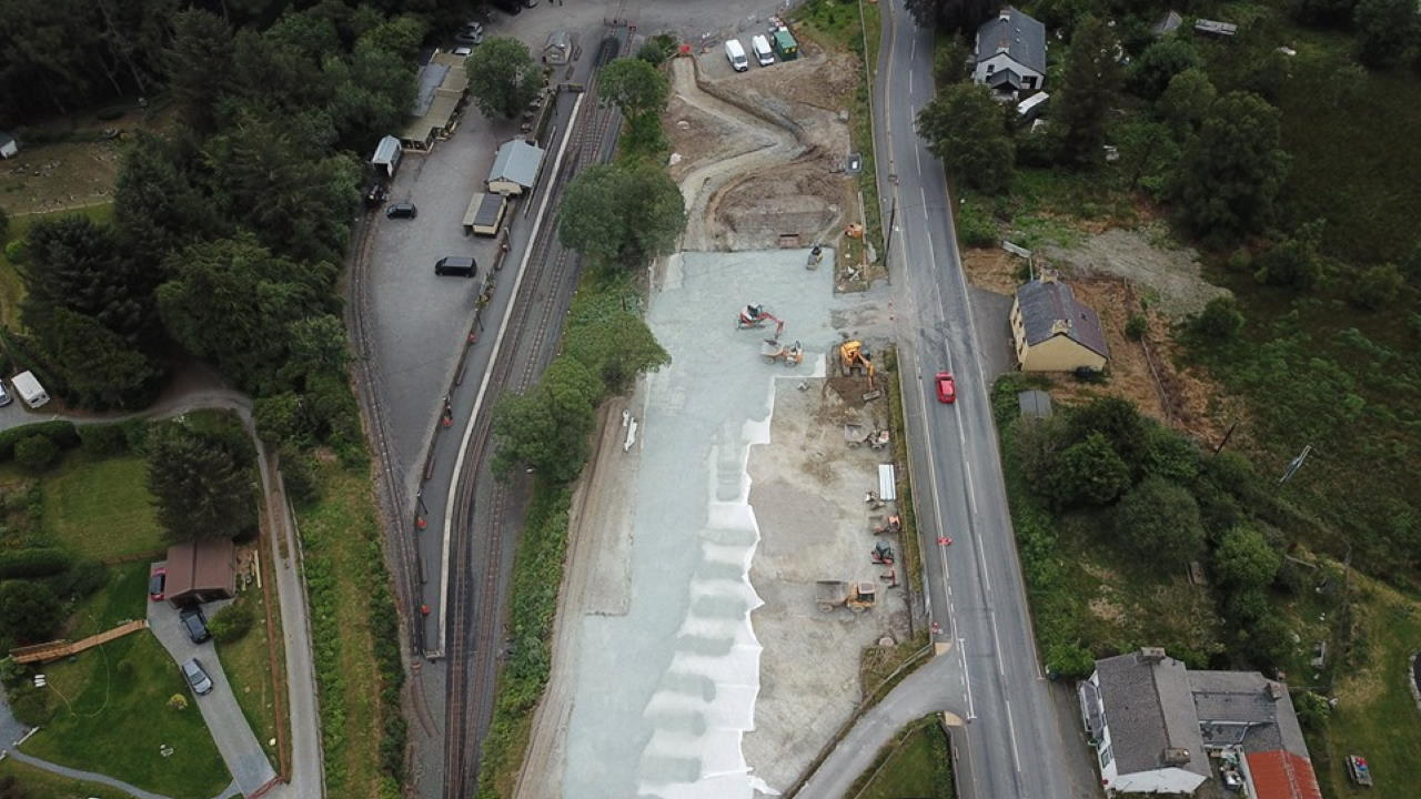 Drone Photos Of New Car Park For Vale Of Rheidol Passengers