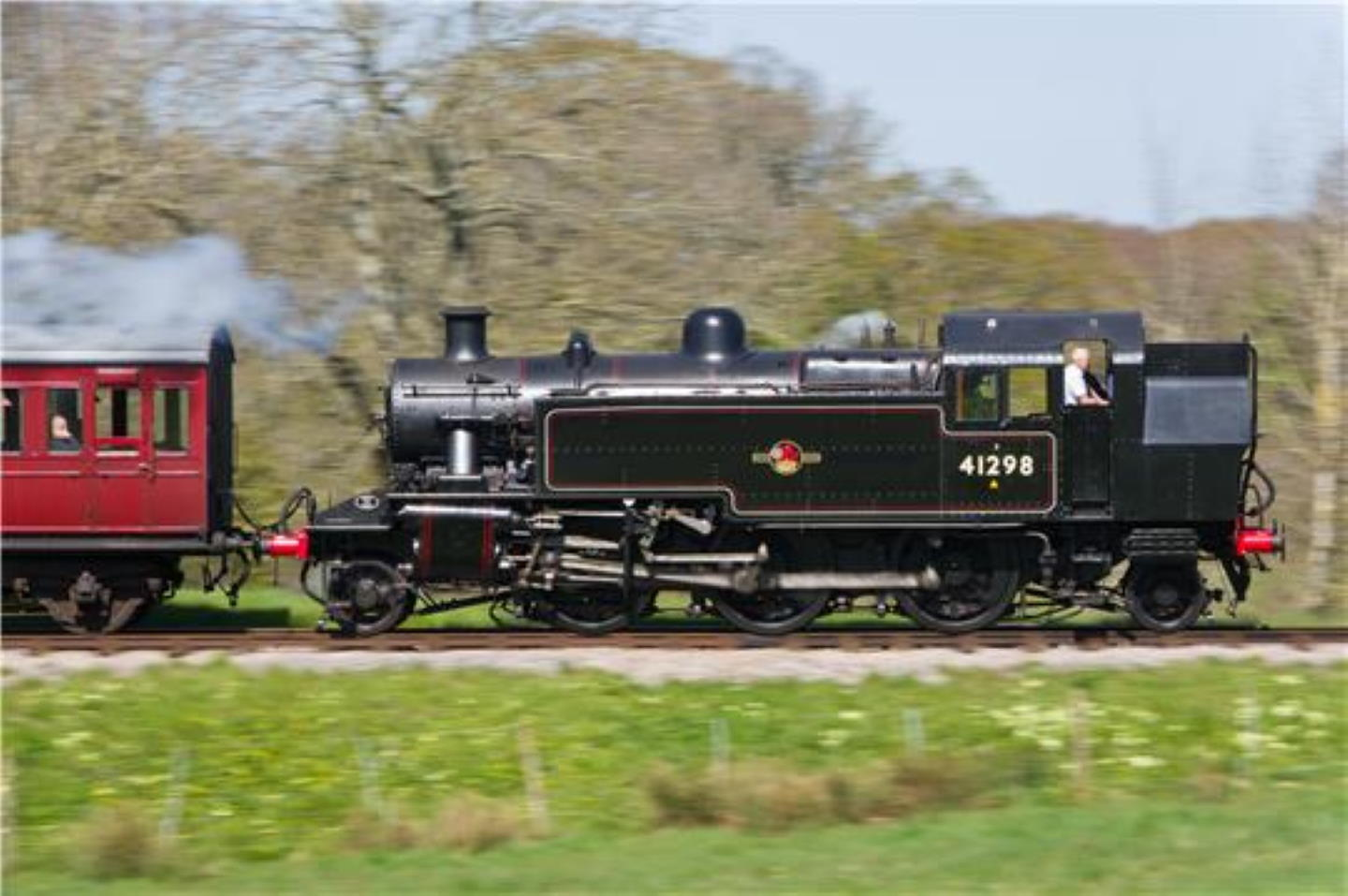 41298 at the Isle of Wight Steam Railway in 2016 // Credit Isle of Wight Steam Railway