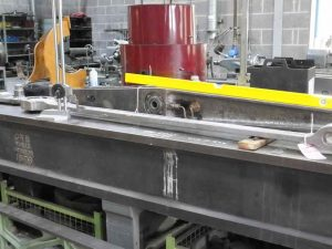 Eccentric Rods being Measured // Credit The Sir Nigel Gresley Locomotive Trust Ltd