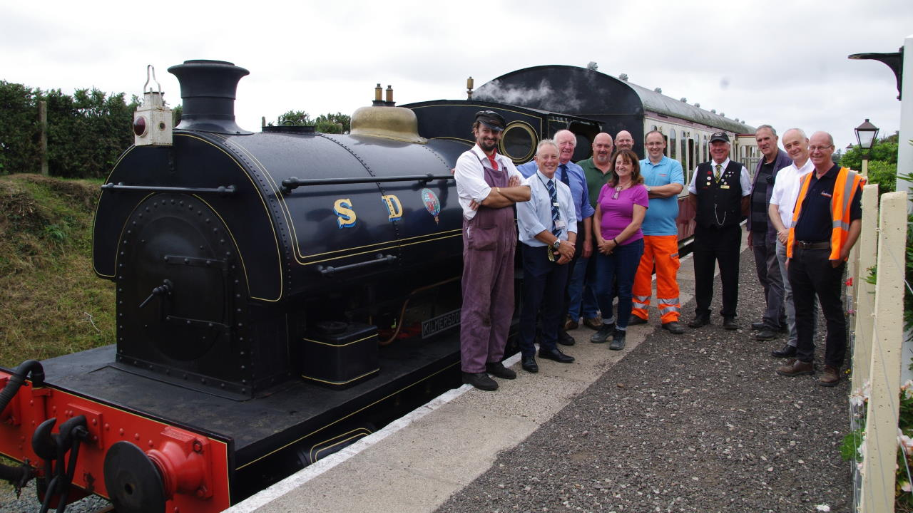Materials donation to the Helston Railway