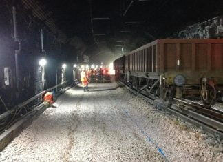 London Liverpool Street track replacement