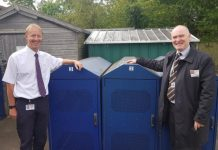 bike shelter donated to school