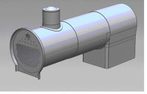 CAD Drawing of Boiler // Credit Elliot Powick CME