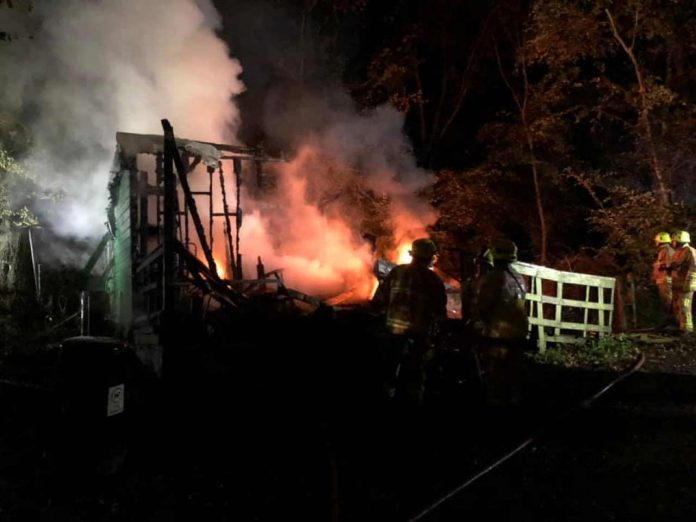 arson attack at the East Kent Railway