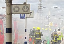 Doncaster train fire